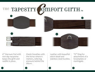 Tapestry Comfort Girth - Horse & Hound Tack Shop & Pet Supply