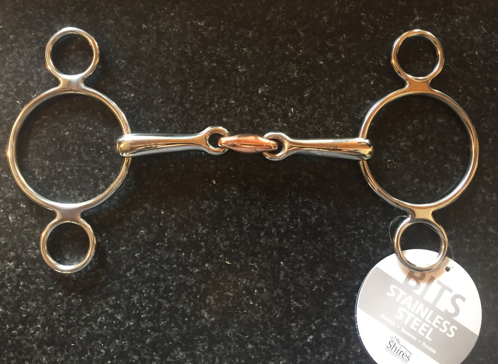 Shires Two Ring Copper Lozenge Gag - Horse & Hound Tack Shop & Pet Supply