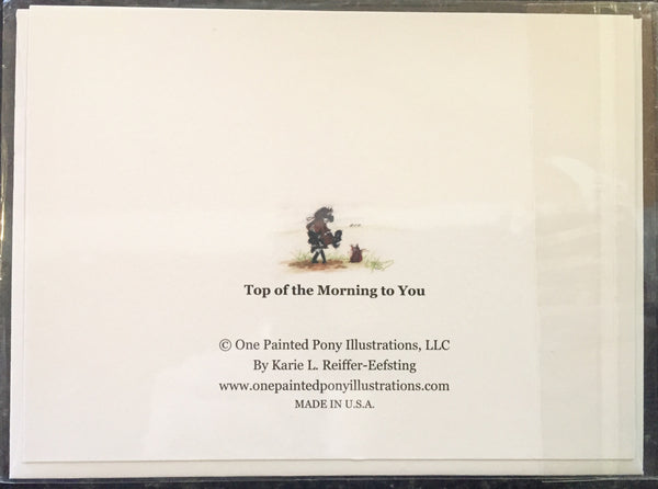 "One Painted Pony Illustrations Gift Card ""Top Of The Morning to You"" - Horse & Hound Tack Shop & Pet Supply"