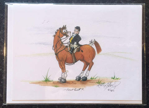 "One Painted Pony Illustrations Gift Card ""First Hunt?"" - Horse & Hound Tack Shop & Pet Supply"