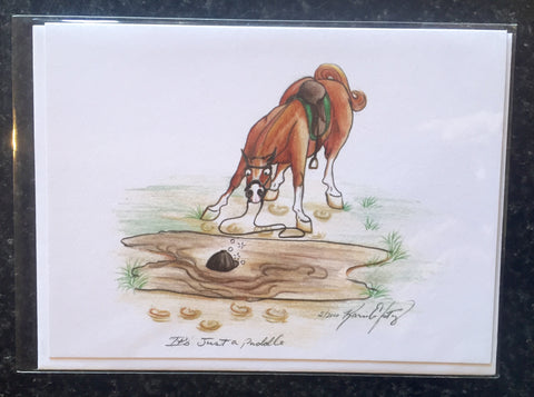 "One Painted Pony Illustrations Gift Card ""It's Just a Puddle"" - Horse & Hound Tack Shop & Pet Supply"
