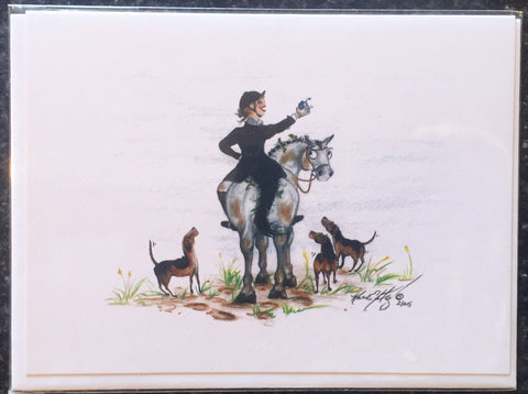 "One Painted Pony Illustrations Gift Card ""Carpe Diem"" - Horse & Hound Tack Shop & Pet Supply"