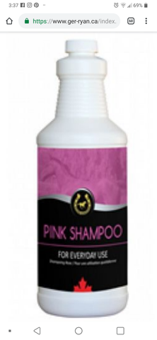 Golden Horseshoe Pink Shampoo