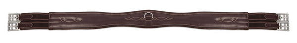 Shires Equestrian Leather Overlay Girth - Horse & Hound Tack Shop & Pet Supply