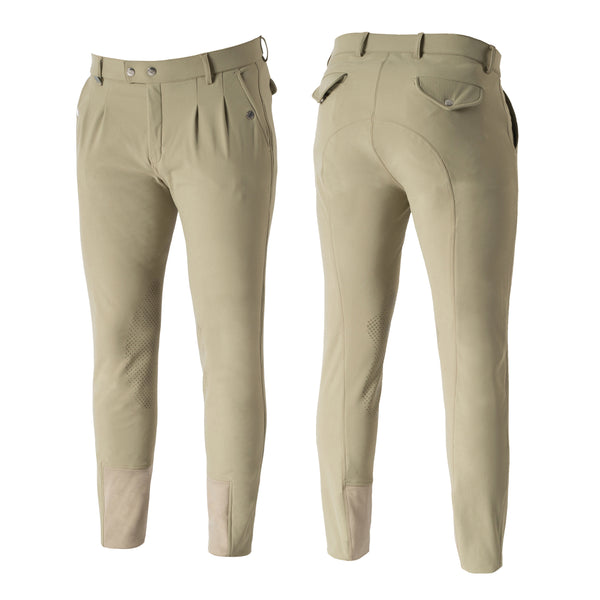Horze Grand Prix Men's Silicone Knee-Patch/Full Seat Breeches - Horse & Hound Tack Shop & Pet Supply