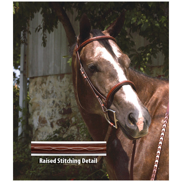 Perri's Professional Fancy Stitched Padded Hunter Bridle - Horse & Hound Tack Shop & Pet Supply