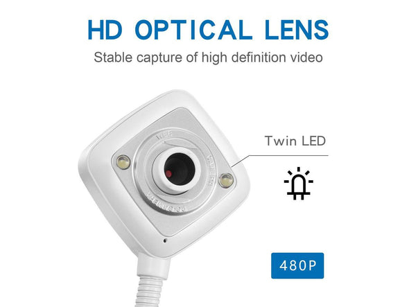 480P LED Webcam HD Video USB With Mic Night Vision