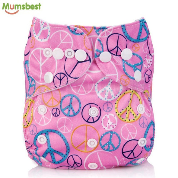 [Mumsbest] 2017 Washable Baby Cloth Diaper Cover Waterproof Cartoon Owl Baby Diapers Reusable Cloth Nappy Suit 0-2years 3-13kg