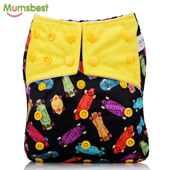 [Mumsbest] 2017 New Baby Cloth Diapers Adjustable Cartoon Foxes Cloth Nappy Washable Waterproof Reusable Babies Pocket Nappies