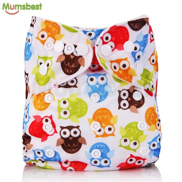 [Mumsbest] New Baby Washable Cloth Diaper Cover Cartoon Animal Adjustable Nappy Reusable Cloth Diapers Available 0-2years 3-13kg