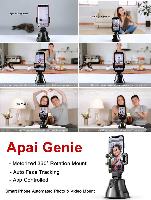 Selfie Stick 360° Rotation Auto Face Object Tracking Phone Camera Holder
