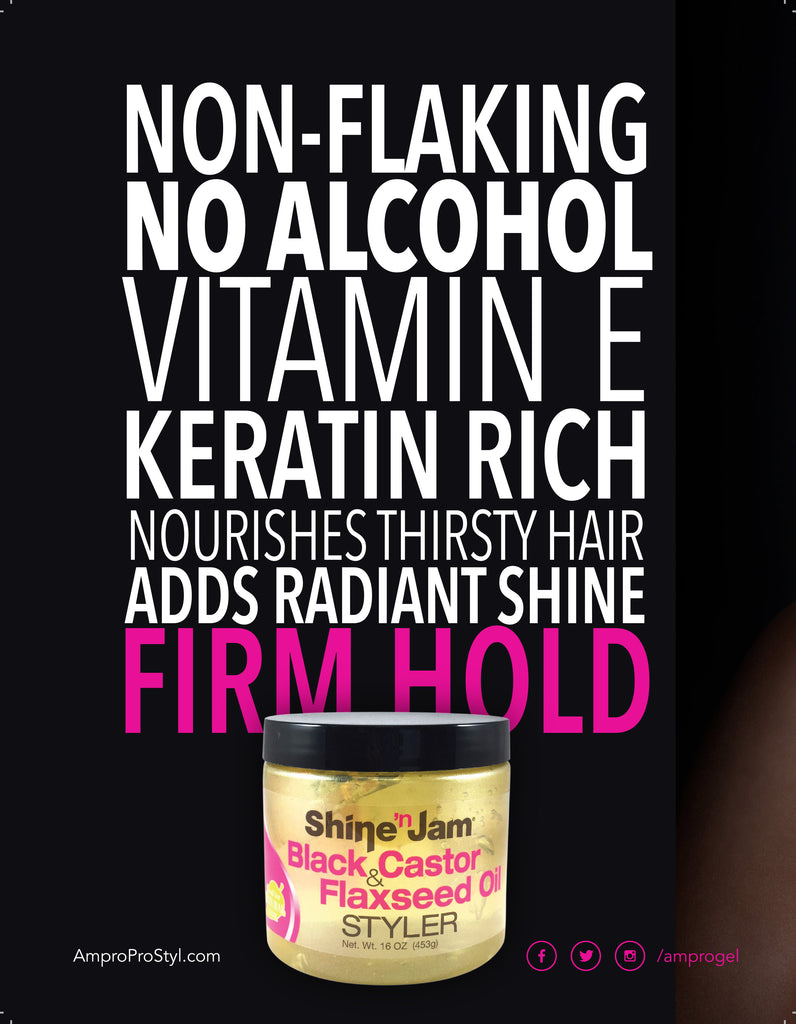Shine 'n Jam Black Castor & Flaxseed Oil Styler is Here!