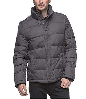 Andrew Marc Men's Puffer Ultra Down Bomber Jacket - Smoke