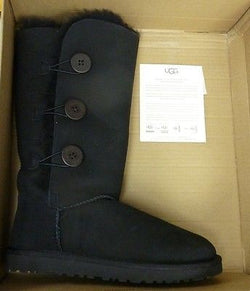 UGG Australia Womens Bailey Button Triplet II Boot - Black