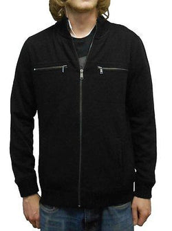 Calvin Klein Men's Lifestyle Full Zip Sweatshirt Jacket - Black - Size Medium