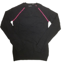 Kersh Ladies Long Sleeve Lightweight Sweater - Black