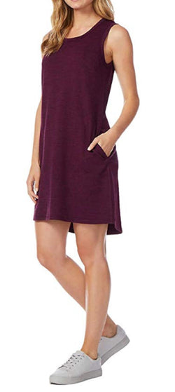 32 Degrees Ladies Sleeveless Dress - Burgundy Space Dye