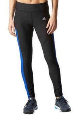Adidas Ladies' Ultimate Fleece Brushed Tight- Black & Blue
