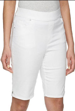 Gloria Vanderbilt Ladies Avery Skimmers Comfort Flex Stretch Capri - Prism White