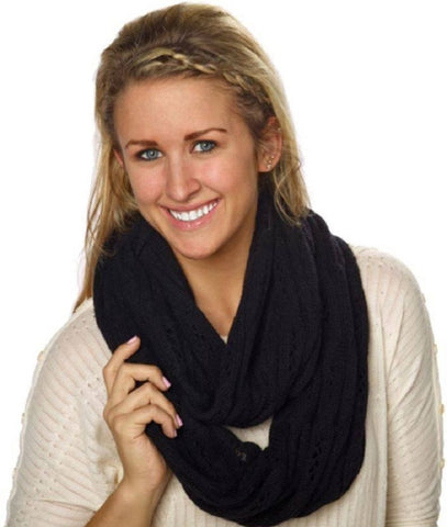 Celeste Women's Cashmere Blend Infinity Scarves - Various Colors