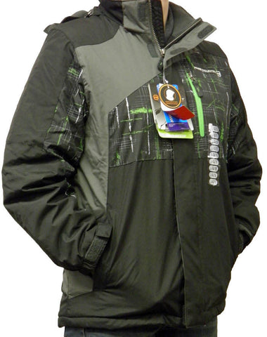 43c150d1afa7 Free Country Boy s FCXtreme Multi-Ripstop Jacket Black Pop Green ...