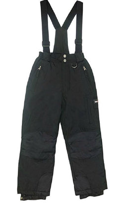 Weatherproof 32 Degree Boys Zip Off Suspender Snow Pants - Black