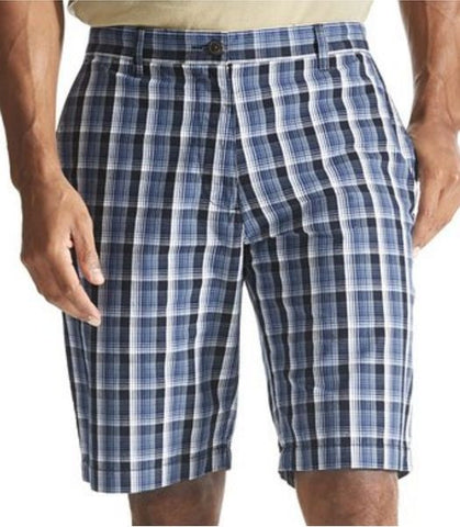 Dockers Men's Washed Cargo Shorts 941790034 Blue/Grey Plaid