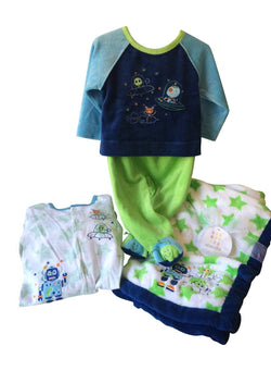 Absorba Boy's 4-Piece Layette Gift Set - Navy