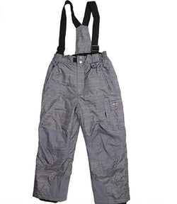 Weatherproof 32 Degree Boys Winter Suspender Snow Pants - Charcoal HRR/TW