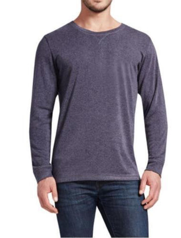 32 Degrees Weatherproof Heat Men's Long Sleeve Crew Neck - Dark Charcoal