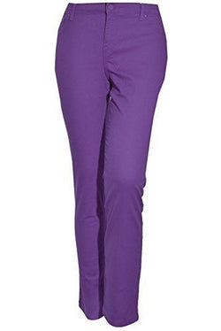 Gloria Vanderbilt Ladies Sadie Modern Fit Slim Stretch Pants - Grape Royale