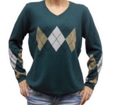 Luigi Baldo Ladies Cashmere Blend Argyle Sweaters