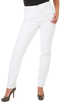 Gloria Vanderbilt Women's Amanda Tapered Leg Pants - Prism White