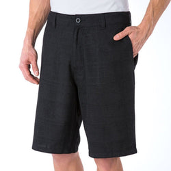 O'Neill Mens Plaid Flat Front Shorts Marcos - Black