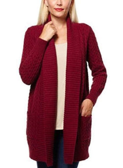 Leo & Nicole Ladies' Cable Cardigan