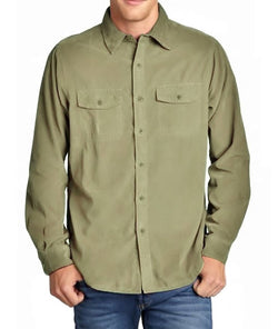 Tailor Vintage Mens 2 in 1 Reversible Button Down Shirt - Khaki, Navy, Graphite