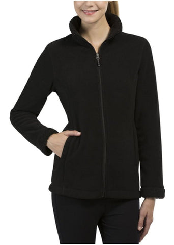 Weatherproof 32 Degrees Heat Women's Sherpa Lined Fleece Jacket - Black