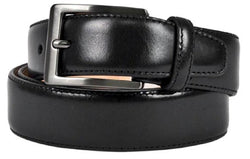 Kirkland Signature Italian Leather Full-Grain Leather Belt Black