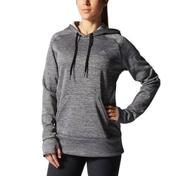 Adidas Ladies' Ultimate Brushed Fleece Pullover Hoodie-Dark Grey, XL