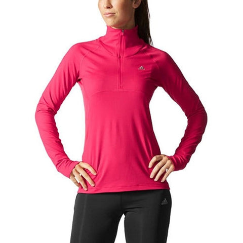 Adidas 1/4 Zip Climalite Women's Pullover Active Jacket Shirt