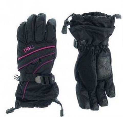 HEAD Youth Ski Gloves with Velcro Pocket Size Medium Ages 7-10