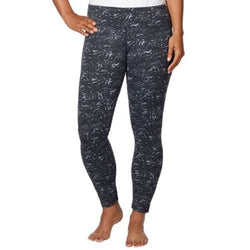 32 Degrees Weatherproof Ladies Yoga Legging Pant - Black Swirl Print