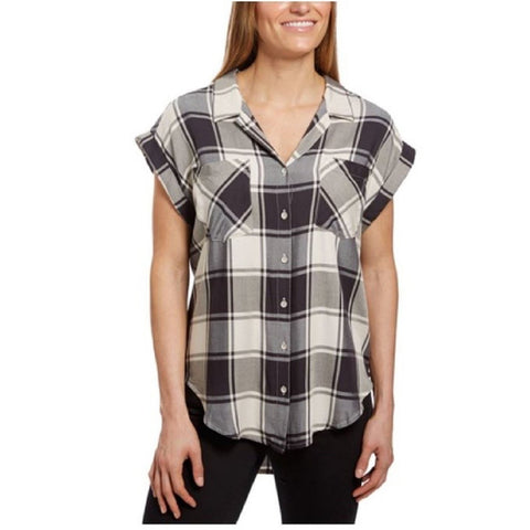 Jachs Girlfriend Women's Quinn Cap Sleeve Button Front Blouse