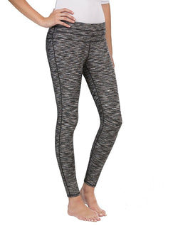 32 Degrees Cool Weatherproof Ladies Active Yoga Legging - Black Space Dye