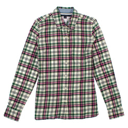 Tommy Hilfiger Womens Plaid Button Up Shirt