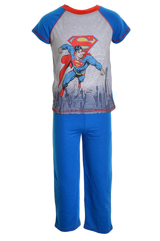 DC Comics Boys 2-7 2-Piece Superman Pajama Set