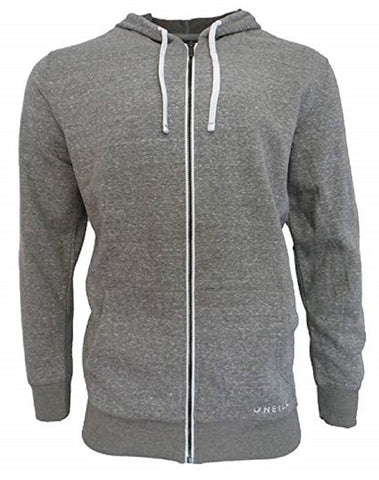 O'Neill Men's Fleece Full Zip Hooded Line Up Jacket - Gray