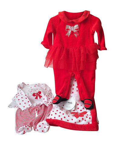 Absorba Baby Girls Holiday 4 Piece Set