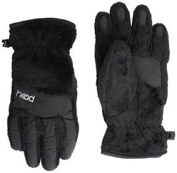 HEAD Boys & Girls ThermalFUR Ski and Snowboard Gloves - Black or Silver