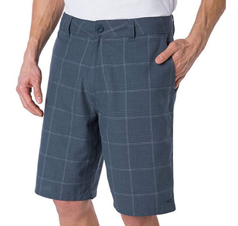 O'Neill Mens Plaid Flat Front Shorts - Blue